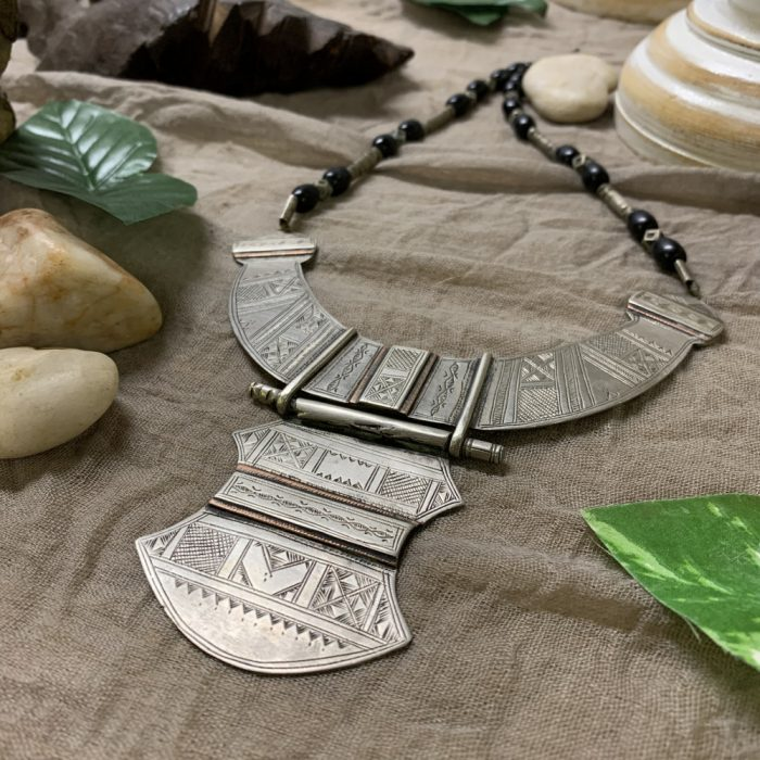 Tuareg Hand Carved Statement Necklace