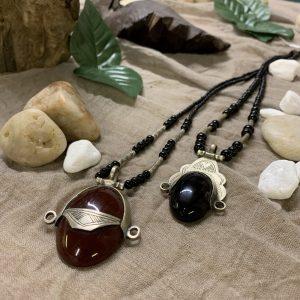 Tuareg Carnelian Onyx Pendant Necklace