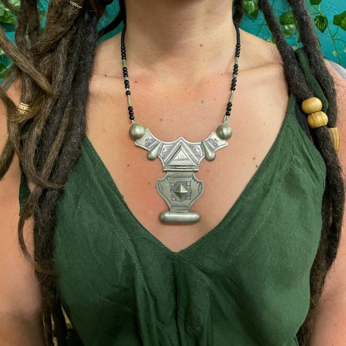 Tuareg Carved Two Tier Pendant