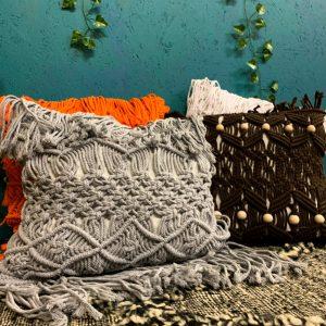 Macrame Fringe Cushion Cover